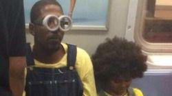 Este pai decidiu levar seu filho para ver 'Minions' vestido de...
