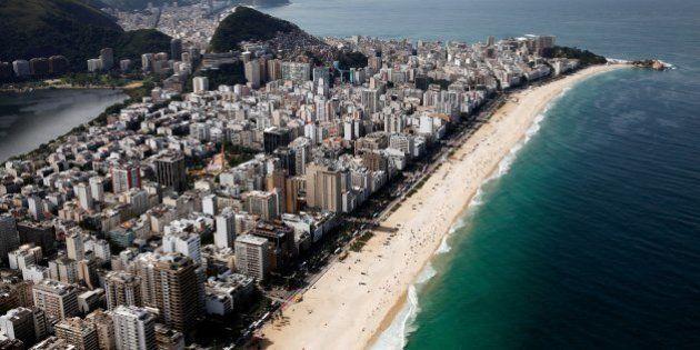 RIO DE JANEIRO, BRAZIL - JULY 07: A general view of Ipanema Beach on July 7, 2014 in Rio de Janeiro,...