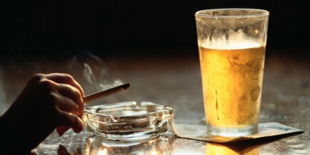 Smoking and a Beer