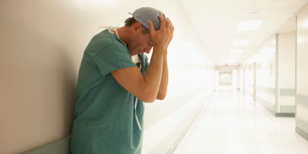 Surgeon Thinking in Hospital