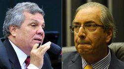 Presidente da bancada da bala peita Eduardo Cunha: