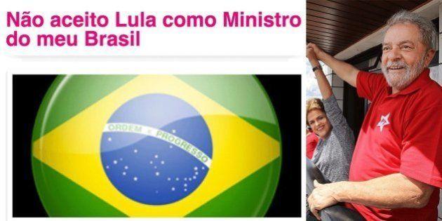 Críticos de Lula criam petição na internet para pedir afastamento dele da Casa