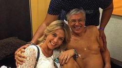 Caetano Veloso de cueca com Carla Perez e Xanddy? Sim, esta foto