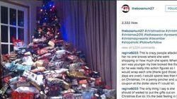 A árvore de Natal desta mãe provocou a ira da