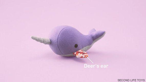 Um bichinho de pelúcia com uma orelha doada por outro. Estamos falando de