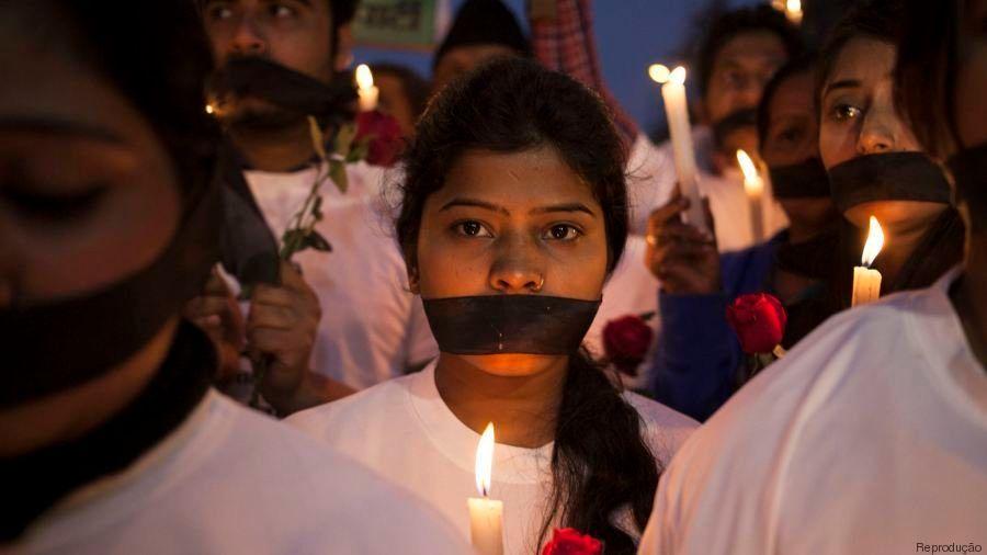 Manifestantes foram às ruas durante um mês para pedir mudanças nas leis indianas...