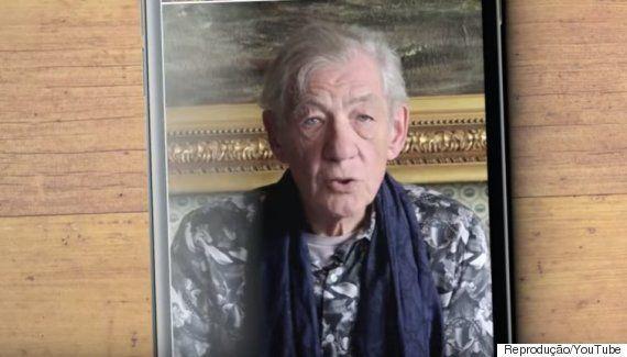 #SemFiltro: Campanha com Ian McKellen motiva pessoas LGBTs a viverem sem