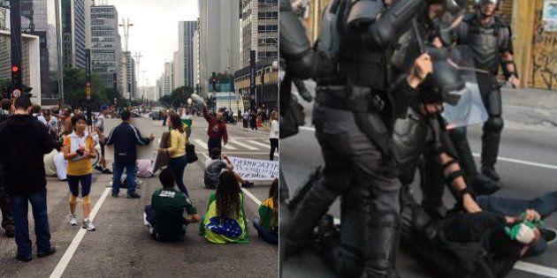 Em dia de #ForaDilma e violência, por que a PM e a CET fecharam a Avenida Paulista antes dos protestos...