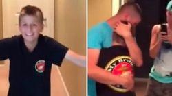ASSISTA: Caçula se emociona ao rever irmão mais velho depois de muito