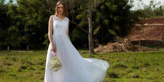 Site faz sucesso com vestido de noiva a partir de R$