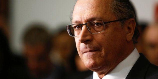 SAO PAULO, BRAZIL - JUNE 24: Governor Geraldo Alckmin during announcement that there will be no increase...
