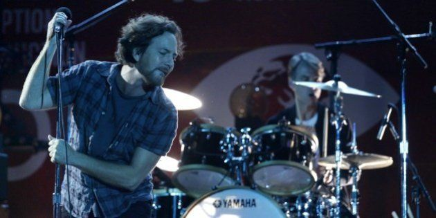 Eddie Vedder from Pearl Jam performs during the fourth annual Global Citizen Festival in Central Park...