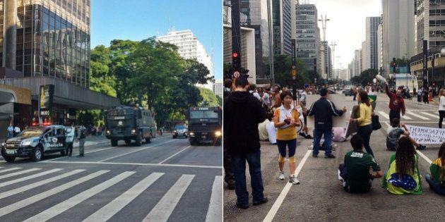 Governo Alckmin 'inaugura' caveirões da PM para retirar à força da Av. Paulista em dia de ato