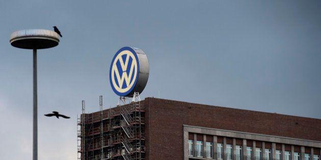 WOLFSBURG, GERMANY - SEPTEMBER 23: General view of Volkswagen Group headquarters during sunset on September...