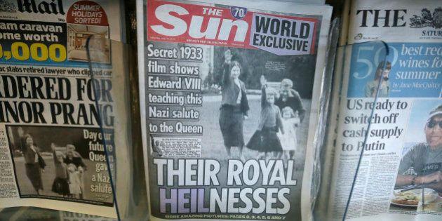 Tabloide publica foto de rainha Elizabeth II fazendo saudação nazista em