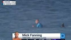 Veja o momento em que o surfista Mick Fanning é atacado por