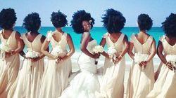 Noiva e madrinhas mostram o poder de seus cabelos afro e a internet se