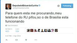 Estes tweets de Eduardo Cunha contam como foi a visita da PF em sua casa