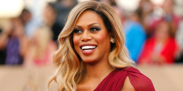 Actress Laverne Cox arrives at the 22nd Screen Actors Guild Awards in Los Angeles, California January...
