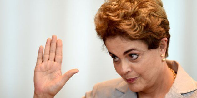 Suspended Brazilian President Dilma meets with foreign correspondents at Alvorada Palace in Brasilia...
