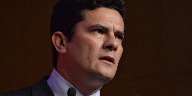 Federal Judge Sergio Moro speaks during a business meeting promoted by Business Leaders Group (LIDE)...
