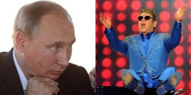 Vladimir Putin telefona para cantor britânico Elton John e propõe