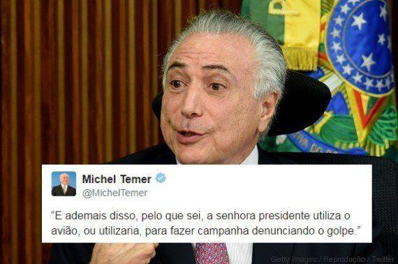 Dilma usando avião para denunciar o 'golpe'? 9 tweets de Michel Temer que as pessoas estão tentando