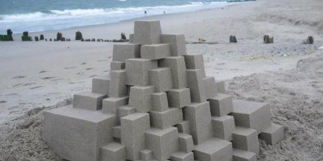Calvin Seibert: artista transforma castelos de areia em verdadeiras esculturas