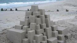 Artista transforma castelos de areia em verdadeiras