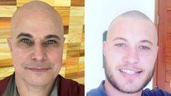 Família unida: Parentes de Celulari raspam a cabeça em apoio ao