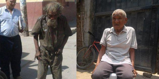 Comunidade peruana se une para mudar o visual (e a vida) de morador de rua