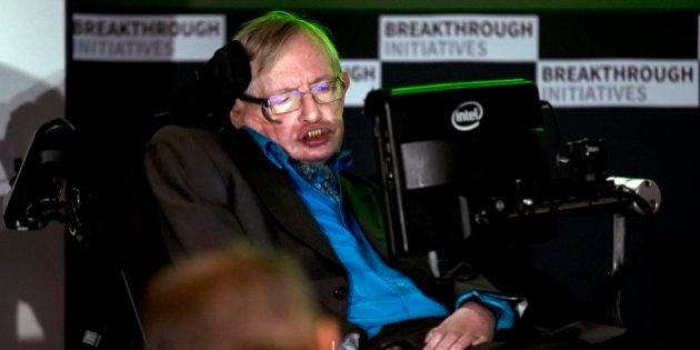 Renowned physicist Stephen Hawking attends a press conference in London, Monday, July 20, 2015. Renowned...