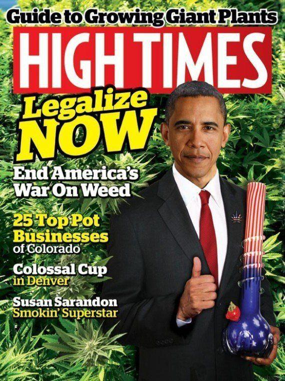Obama foi parar na capa da High Times, a revista de maconha mais antiga dos
