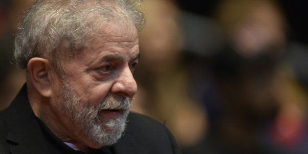 Brazilian former president (2003-2011) Luiz Inacio Lula Da Silva participates in the 12th Congress of...