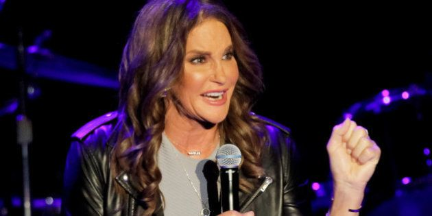 LOS ANGELES, CA - JULY 24: Caitlyn Jenner introduces Boy George and Culture Club at The Greek Theatre...