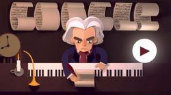 Beethoven completaria 245 anos hoje e ganha Doodle INCRÍVEL do