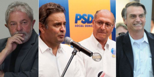 Bolsonaro aparece com 5% em cenários de 2018 em que Lula perde para Aécio e Alckmin