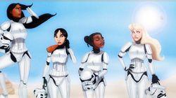As Princesas da Disney versão 'Star Wars' estão mais empoderadas do que