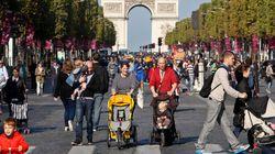 FOTOS: Paris abre avenida Champs-Elysées para pedestres em 'Dia sem