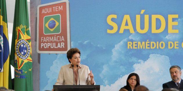 Brasília, DF, 03/02/201. Presidenta Dilma Rousseff discursa durante solenidade de anúncio de medicamentos...