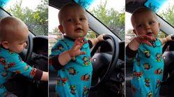 ASSISTA: Mãe tenta baixar volume, mas bebê aumenta o som para