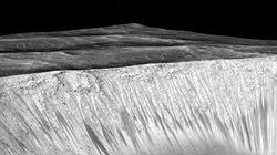 Marte tem córregos de água salgada, revela