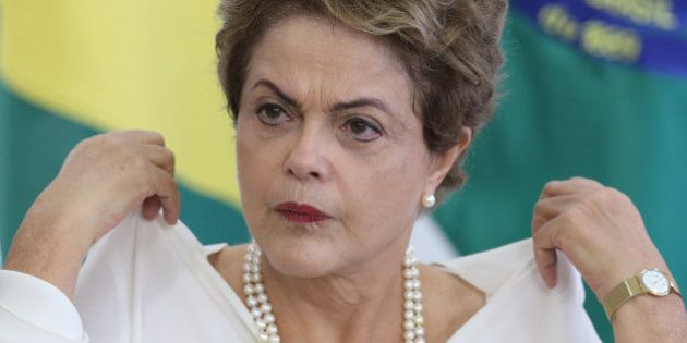 Brazil's President Dilma Rousseff attends a ceremony where she will sign a presidential decree giving...