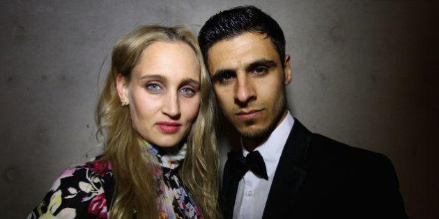 SYDNEY, AUSTRALIA - MAY 16: Carmen Marton and Safwan Khalil, engaged Australian Olympic Taekwondo Team...