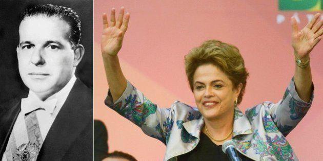 Dilma vira à esquerda (vendo Jango no