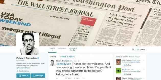 Edward Snowden cria uma conta no Twitter e já faz 'piada' com a