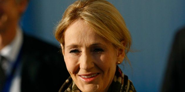 J.K. Rowling, author of Harry Potter, arrives for a ceremony to mark the start of building work on a...