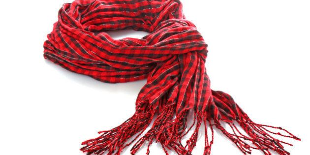 Red scarf isolated on