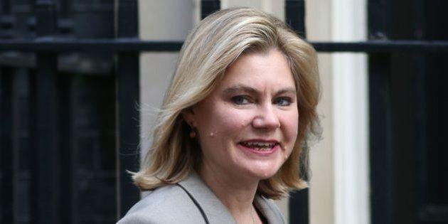 British International Development Secretary Justine Greening arrives at Downing Street in London on February...