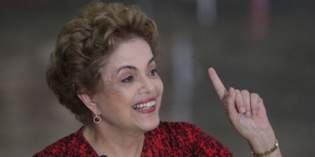 Brazil's President Dilma Rousseff speaks during a press conference at the Planalto Presidential palace,...